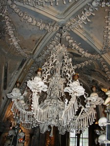 Kutna Hora Bone Chandelier